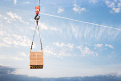 Hook cargo crane Stock Photo