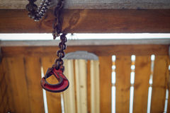Hook with a chain Stock Photo