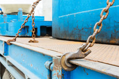 Hook and chain Stock Images