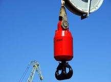 Hook of the crane Stock Images