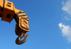Hook of Crane against blue sky Royalty Free Stock Photos