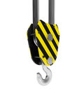 Hook of a crane in close-up. 3d illustration: The hook of a crane in close-up Royalty Free Stock Images