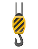 Hook a crane for lifting goods vector illustration Royalty Free Stock Photo