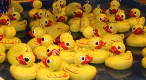 Hook a duck. Game at Goose Fair Nottingham Stock Photos