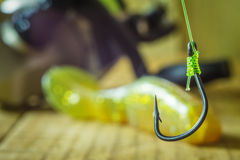 Hook for fishing Stock Photos