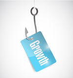 Hook growth tag illustration design Stock Photo