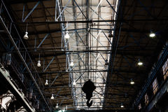 Hook Hanging Under The Roof Of Foundry Factory Royalty Free Stock Photo