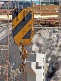 Hook of heavy crane Stock Images