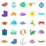 Hook icons set, cartoon style. Hook icons set. Cartoon set of 25 hook vector icons for web isolated on white background Stock Photo