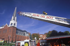 Hook and ladder demonstration Royalty Free Stock Image