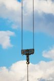 A hook of lifting crane Royalty Free Stock Images