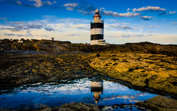 Hook Lighthouse. In Co. Wexford, Ireland is one of the oldest working lighthouses in the World dating back 800 years Royalty Free Stock Image