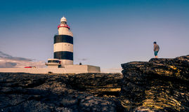 Hook Lighthouse. In Co. Wexford, Ireland is one of the oldest working lighthouses in the World, dating back 800 years Royalty Free Stock Photography