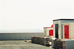 Hook Lighthouse outbuildings royalty free stock photo