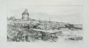 Hook Lighthouse Sketch Royalty Free Stock Image