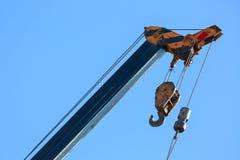 Hook of machinery crane construction Stock Photo