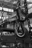 Hook, Metal, Crane, Black, Chain Stock Image