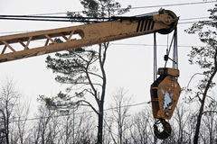 Hook Of A Mobile Lifting Crane Stock Photography