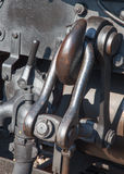 Hook on old steam locomotive Royalty Free Stock Photo
