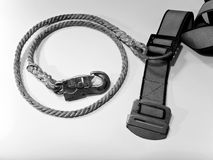Hook and rope with belt of Safety Equipment Stock Images
