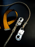 Hook and rope with belt of Safety Equipment Royalty Free Stock Image