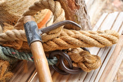 Hook and rope Stock Photography