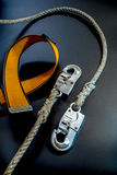 Hook and rope of Safety Equipment Royalty Free Stock Images