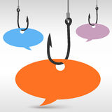 Hook with speech bubble Stock Photography
