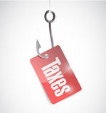 Hook and taxes illustration design Royalty Free Stock Photography