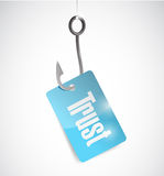 Hook trust tag illustration design Royalty Free Stock Photography