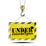 Hook under construction Stock Images