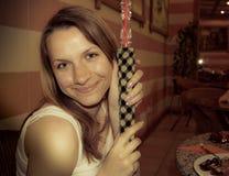 hooka κοριτσιών Στοκ φωτογραφία με δικαίωμα ελεύθερης χρήσης