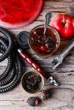 Hookah και τσάι Στοκ Εικόνες