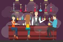 Hookah bar interior. Royalty Free Stock Images