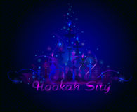Hookah Bar Menu Cover Stock Image