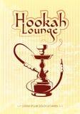 Hookah bar vector poster Stock Photos