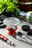 Hookah bowl with tobacco royalty free stock photo