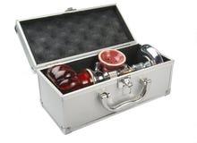 Hookah in box. Tunisian hookah in the aluminum suitcase Royalty Free Stock Image