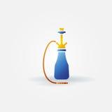 Hookah bright icon or logo Royalty Free Stock Photo
