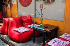 Istanbul, Turkey - Hookah cafe at the street royalty free stock photo
