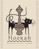 Hookah and cat Stock Image
