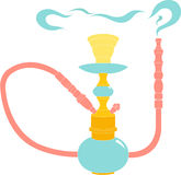 Hookah color illustration on white background. Hookah vector color illustration on white background Stock Photography