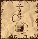 Hookah icon on vintage background Stock Photography