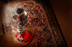 Hookah In Smoke Stock Photo