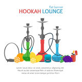Hookah Lounge Banner. Vector Royalty Free Stock Images