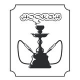 Hookah lounge label. Shisha emblem Stock Photo