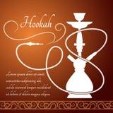 Hookah menu design Stock Image