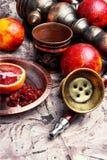 Hookah with orange taste Stock Image