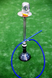 Hookah over green background Stock Photography