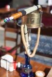 Hookah pipe in oriental cafe Royalty Free Stock Image